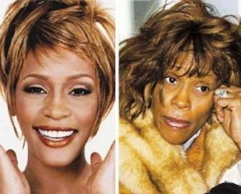 Whitney Houston before and after drugs