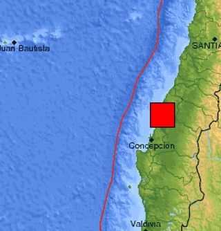 Earthquake zone in Chile