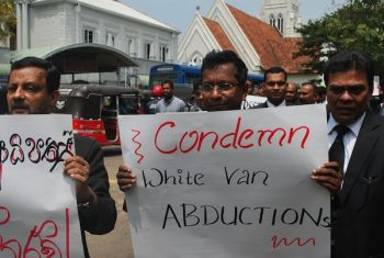 White van protest in Sri Lanka