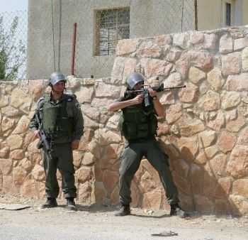 Israeli forces fire at demonstrators in West Bank.