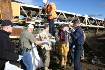 Rescue of man whose arm was crushed in Canby, Oregon 1-4-08