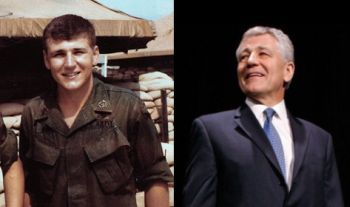 Chuck Hagel in Vietnam and today