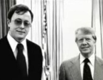 Murdered Oregon Corrections Chief Michael Francke and former U.S. President James Carter.