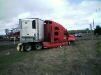 Crash on Oregon Hwy 211 1-13-09