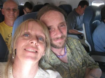 Bonnie and Tim King returning from Baltimore in the summer of 2012, where Tim was honored for his war crime reports covering the Tamil Genocide in Sri Lanka.