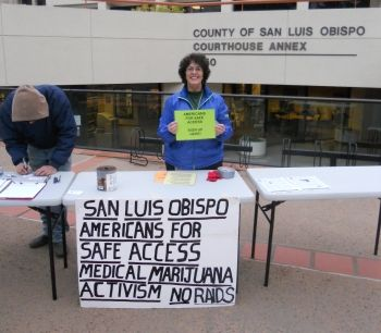 Pro-medical marijuana rally on the San Luis Obispo Courthouse steps by Tristan Miller