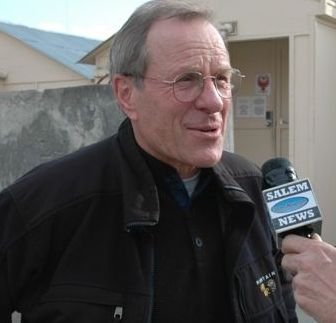 Oregon Governor Ted Kulongoski in Kabul, Afghanistan.  Photo by Tim King