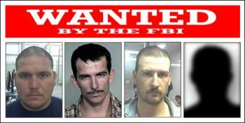 From left to right, Jesus Rosario Favela-Astorga, Ivan Soto-Barraza, Heraclio Osorio-Arellanes, and Lionel Portillo-Meza (photo unavailable) are wanted in connection with the murder of Border Patrol Agent Brian Terry.