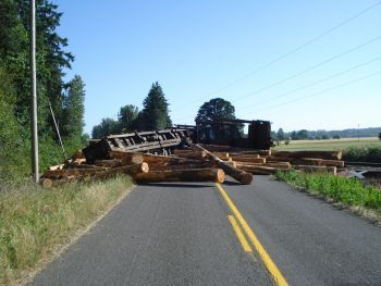 Train wreck in Talbot, Oregon