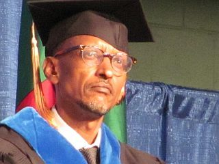 Rwandan Pres. Paul Kagame.  Photo by Jennifer Fierberg