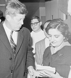 Helen Thomas and JFK