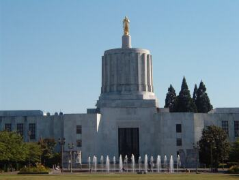 Oregon Capitol in Salem, Oregon