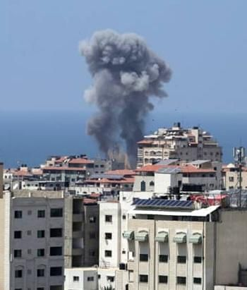 Gaza bombed by Israel