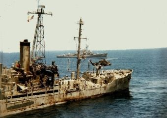 USS Liberty after being struck by Israel