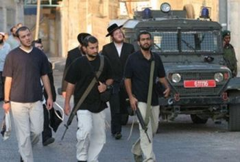 Armed Hebron settlers