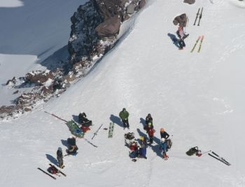 Recovery of Canadian climber, Robert Dale Wiebe's body on Mt. Hood, Oregon