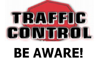 traffic control be aware logo