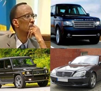 President Paul Kagame of Rwanda's car collection