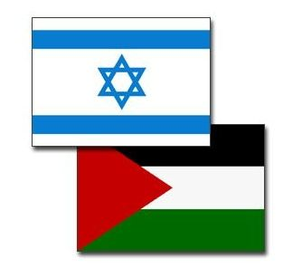 Flags of Israel and Palestine
