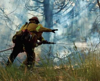 More than 150 students from the Central Oregon Wildfire School in Madras participated in the two-day training.