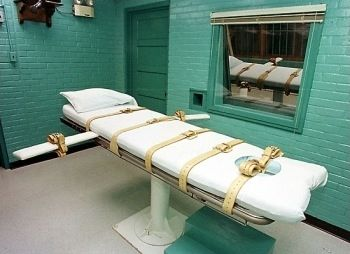 Lethal Injection Gurney in Huntsville, Texas