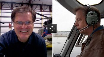 KOMO News photographer Bill Strothman and pilot Gary Pfitzner