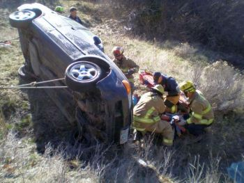 Car crash near Ashland, Oregon 3-17-14