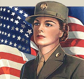 Historic women military poster
