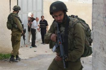 IDF raid on Palestinian home