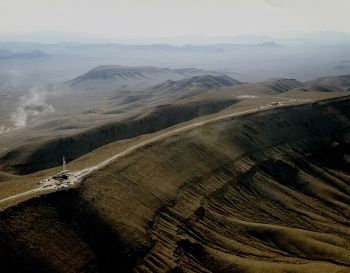 South crest of Yucca Mountain