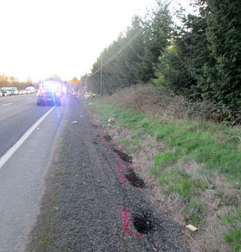 Motorcycle crash near Dundee, Or. 3-22-14