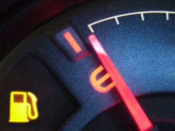Gas gauge empty