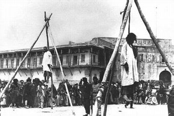 Images of the Armenian genocide.