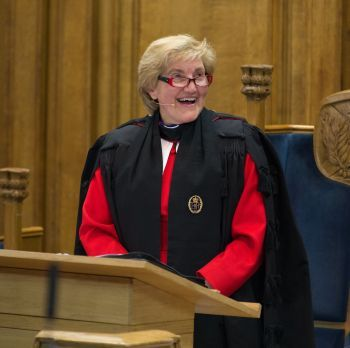 Right Reverend Lorna Hood at the General Assembly of the Church of Scotland this morning.