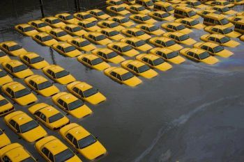Taxi cabs in Hoboken, New Jersey