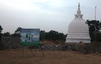 India remains a mute spectator to the rapid Sinhalisation of Tamil homeland. A recently constructed Buddhist stupa in Tamil territory