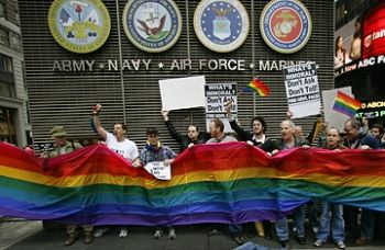 gay military protest