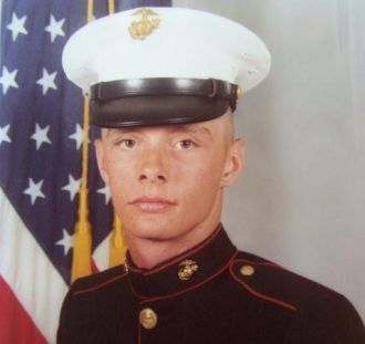 Tim King in 1981, USMC photo