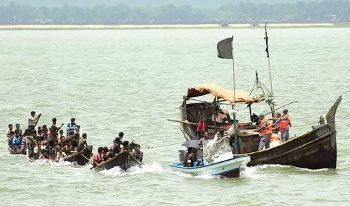 Thousands of refugees have attempted to escape Burma by boat but Bangladesh won't let them land.