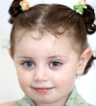 Small girl victim of Israel's unprovoked murder.
