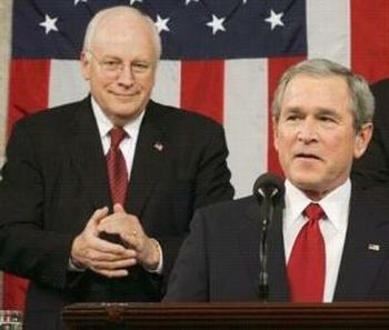 Former U.S. Pres. GW Bush and V.P. Dick Cheney