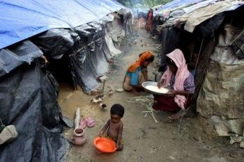 Conditions are rough in Teknaf camp in Bangladesh. Movement of refugees is r