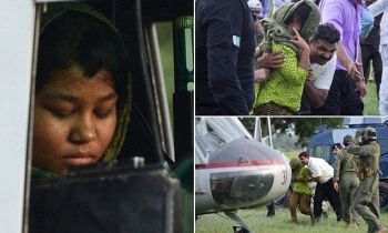 The little girl named Rimsha who was falsely accused by a Muslim cleric of burning pages of the Holy Qur'an.