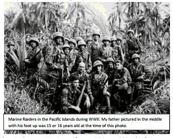 Marine Raiders in the Pacific islands during WWII