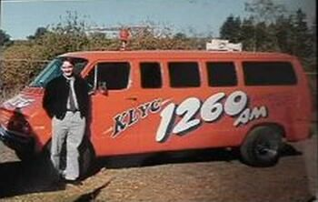 Tim King as News Director of KLYC Radio in Oregon