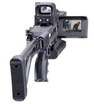 Israeli sniper rifle with video camera
