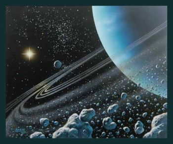 Uranus Rings by David A Hardy