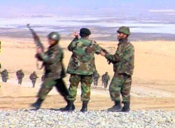 Afghan National Army soldiers in Kabul, January 2007