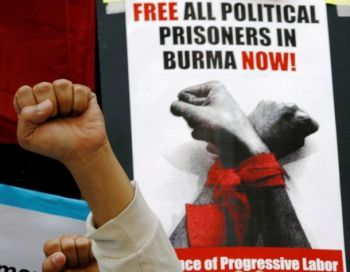 Free political prisoners in Burma