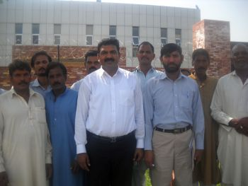 Christian representatives from Mehrabadi outside the DCO office Islamabad Pakistan
